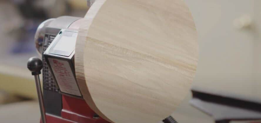 measuring swing of a wood lathe