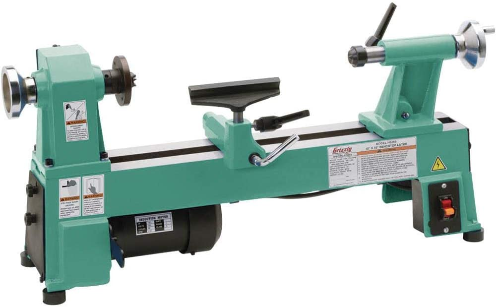 """""""Paste colored midi lathe Grizzly-H8259 in a white background"""""""