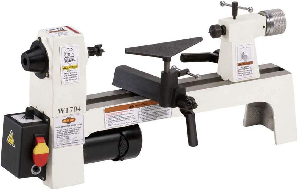Shop-Fox-W1704 mini wood lathe